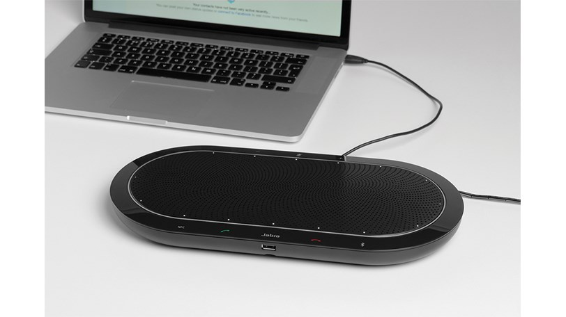 Jabra Speak 810 with extra laptop