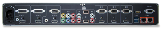 RealPresence Group 700 - codec rear view